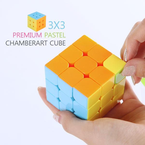매직큐브- 3x3 프리미엄 파스텔 큐브 (입체큐브)(지능개발)  이미지