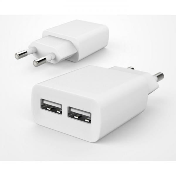 ubacc USB 2PORT 듀얼 충전기 화이트 이미지