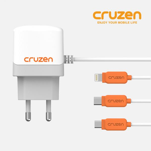 크루젠 정품 가정용 일체형 충전기 1.5A 이미지